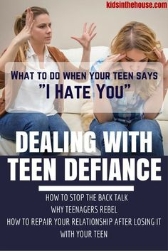 A defiant teenager might portray out of control or disrespectful behavior towards parents. Cursing, using drugs & alcohol, and being difficult are all examples of defiant behavior. Dealing with these circumstances can be challenging or frustrating, but it is important to remember that this is still your child. Experts in the field share tips & advice on how to deal with an unruly teen with over 20 videos on topics every parent of a teenager can relate to in our kids in the house resource
