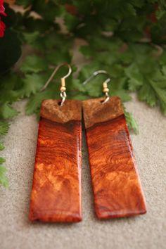 Unique  Amboyna Burl Long Exotic Wood by ExoticWoodJewelryAnd