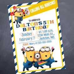 minions invitation minion birthday invitations minions party