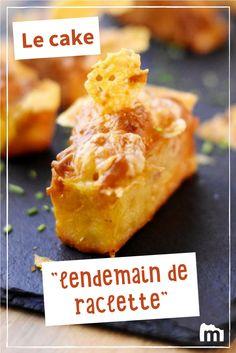 """Cake """"lendemain de raclette"""" #cake #apéro #raclette #restes #fromage #Marmiton #recettes"""