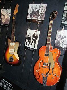1959 Fender Jazzmaster and 1955 Gretsch 6120