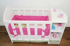 DIY baby doll bed and changing station. Make her furniture for her babies
