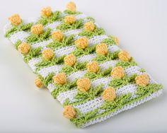 Tulip Baby Crochet throw | Crochet Pattern Tulip Field Baby Blanket PDF by SweetCrocheterie, $7 ...