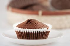 Cocoa and courgette muffin