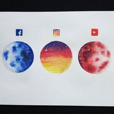 Social media themed art was so popular on Instagram lately that I've decided to do my own version - planets 🌌