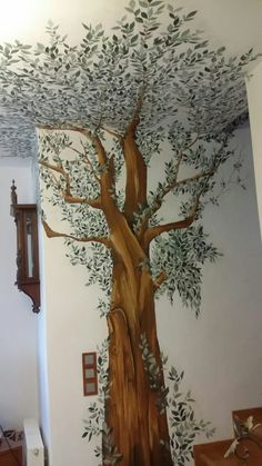 handpainted olive tree in the livingroom !,,
