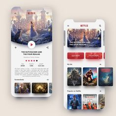 Netflix – Mobile App Redesign - My Design Ideas 2019 Ios App Design, Mobile Ui Design, Ux Design, Flat Design, Design Layouts, Homepage Design, Application Ui Design, Application Mobile, App Design Inspiration