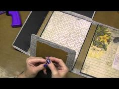 Altering Tim Holtz Folio - Getting the Inside Foundation in, Part 5 - YouTube