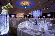Lighting, crystal table centerpieces