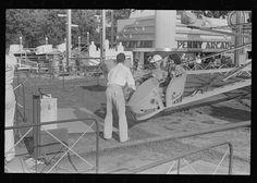 Scene at Buckeye Lake Amusement Park, near Columbus, Ohio (see general caption) Six Flags New Orleans, Buckeye Lake, Lancaster Ohio, Fair Rides, Amusement Park Rides, Civil War Photos, Lake Park, Arcade, Old Things