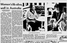 Despite the headline, women's lib was NOT alive and well for women architects in Australia. By 1972, facing continued discrimination as a woman in her profession,  Nenette Lorimer left for Europe with her family.  Star-News, Brisbane - May 7, 1972