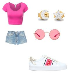 """""""Pink sunset"""" by ashleighv1104 on Polyvore featuring Carvela, RE/DONE, Missoma and Ray-Ban"""