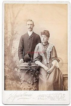 Victorian Gutekunst Cabinet Card Pliladelphia PA IDd Couple Squire Antique Photo