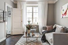 Apartamento pequeno cinza e amarelo com decoração impecável - limaonagua