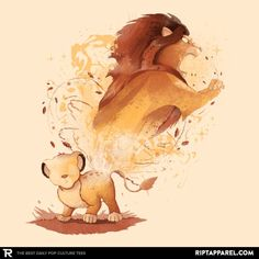 Lion King T-Shirt by Valentina Fabbri aka vale. Show everyone that you are a fan of Lion King with this t-shirt. Lion King Fan Art, Lion King Movie, Lion King Simba, Disney Lion King, Roi Lion Simba, Le Roi Lion, Lion King Pictures, Lion Images, Arte Disney
