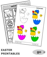 Printable Easter worksheets