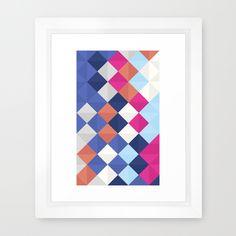 TRIANGLOW Framed Art Print #society6 #design #artprint #art #print #home  #decor #pattern #triangle #decor #colorful #white #nordic #scandinavian