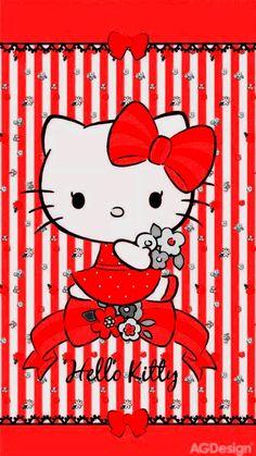 Hello Kitty Art, Hello Kitty Themes, Hello Kitty Pictures, Hello Kitty Backgrounds, Hello Kitty Wallpaper, Sanrio Wallpaper, Cartoon Wallpaper, Cellphone Wallpaper, Iphone Wallpaper