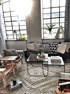 Industrial living room via Rum Hemma