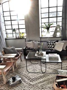 Industrial living room via Rum Hemma