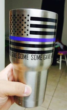 A personal favorite from my Etsy shop https://www.etsy.com/listing/261924028/flag-decal-with-blue-line-saying-for