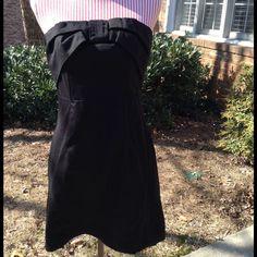 [H&M] Black Strapless Bow Dress