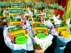 Sesame Street Party Thank You Gift Cups with Custom Thank You Sign Eventful Moment