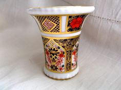 Royal Crown Derby Imari 1128 Small Vase Spill Vase 1st Quality by Collectablesgalore on Etsy