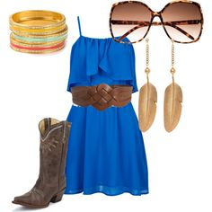 I have this dress.. never thought to pair it with western accessories.. might be a stampede 2013 outfit ;)