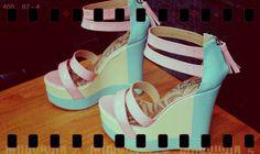 pastel coloured shoes.