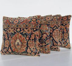 İtem Detail Persian Four Carpet Rug Pillow Covers Made From Used Hand Knotted Rugs The Original Are Woven Of Wool And Roximate 40 80 Years