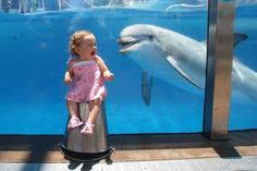 Baby and dolphin