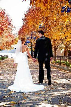 <3 Our Wedding   #wedding #fall #leaves