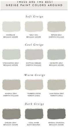 Best Greige Paint Color, Best Paint Colors, Interior Paint Colors, Grey Paint, Interior Painting, Neutral Wall Paint, Soothing Paint Colors, Fixer Upper Paint Colors, Best Wall Colors