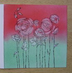 Inspiration. Pan Pastels, Stamping & Erasing