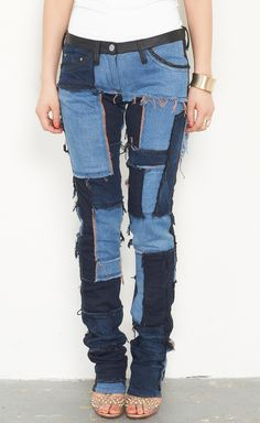 Isabel Marant Blue Patchwork Jeans