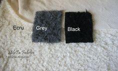 Soft Fake Fur Lamb Fabric - Ecru Grey Black