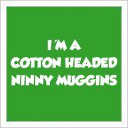 """No Buddy you're not a cotton headed ninny muggins"""