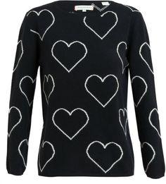 Heart Patterned Cashmere Jumper