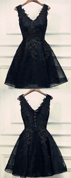 Only $129--Black Lace Tulle Short Homecoming Dress, party dress on sale. www.27dress.com