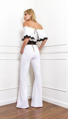 MACACÃO OMBRO A OMBRO - MAC18210-R5 | Skazi, Moda feminina, roupa casual…