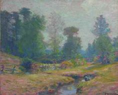 """Morning, Pleasant Valley, Lyme, Connecticut,"" Robert William Vonnoh, oil on canvas, 18 x 22"", private collection."