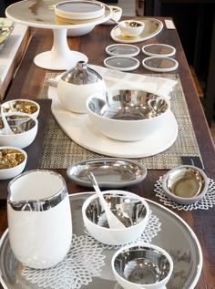 Dauville porcelain collection of bowls, platters,cake stand, vases & coasters
