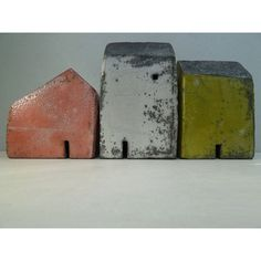 Image of Rowena Brown: raku fired clay houses 4 by mona Clay Houses, Ceramic Houses, Miniature Houses, Bird Houses, Wooden Houses, Pottery Houses, Pottery Art, Fire Clay, Ceramic Techniques