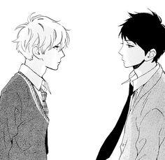 # hirunaka no ryuusei # Mamura Daiki # Shishio Satsuki # Manga Boy, Manga Anime, Anime Art, Daytime Shooting Star, Shooting Stars, Anime People, Anime Guys, Mamura Daiki, Tsubaki Chou Lonely Planet