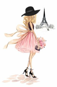 Custom Fashion Illustration -Watercolor Portrait, Fashion Sketch Lifestyle Interior Design Painting Artwork Watercolour Portrait by Reani Fashion Design Drawings, Fashion Sketches, Paris Kunst, Art Parisien, Mode Poster, Cute Girl Drawing, Girly Drawings, Illustration Mode, Illustrations