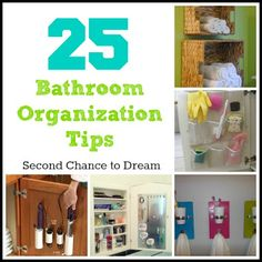Great organizing tips over at Second Chance to Dream