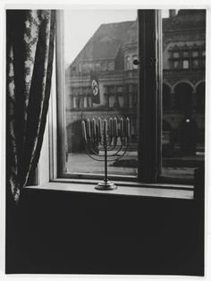 Rachel Posner took this photo from inside the family home on Hanukkah 1932.