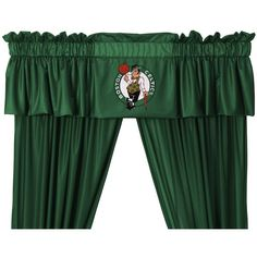 Boston Celtics Window Valance ($28) ❤ liked on Polyvore featuring home, home decor, window treatments, curtains, green, green home decor, window valances, green window valance, green valance and window drapery