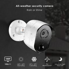 All weather security camera - Ansjer h.265+ 1080p full hd 4ch security system